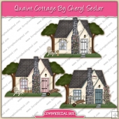 Quaint Cottage ClipArt Graphic Collection - REF - CS
