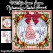 Wildlife Snow Scene Pyramage Card Front