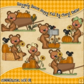 Raggedy Bears Happy Fall ClipArt Graphic Collection