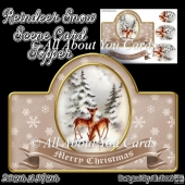 Reindeer Snow Scene Card Topper