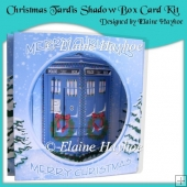 Christmas Tardis Shadow Box Card Kit