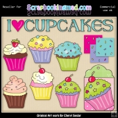 RESALE ART WORK - I Love Cupcakes Collection
