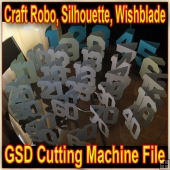 Set Of Card Numbers - Craft Robo GSD File