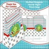 Stuffed Dragons Movie Night Pinch Bag