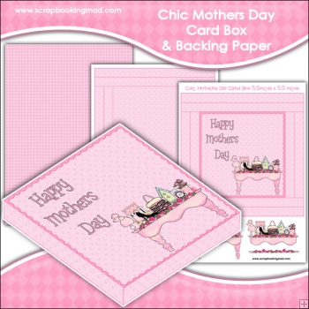 Chic Mothers Day PDF Decoupage Card Box