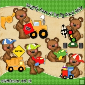 Raggedy Bears All Boy ClipArt Graphic Collection