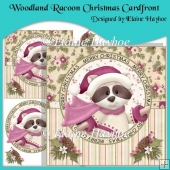 Woodland Racoon Christmas Cardfront