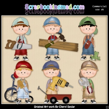 Dougy Loves Tools ClipArt Collection