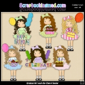 Tall Polly Happy Birthday ClipArt Collection