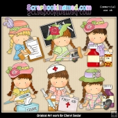 Agnus Boo Boos and Bruises ClipArt Collection