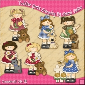 Toddler Girls Everyday ClipArt Graphic Collection
