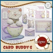 Teacup Kitty Shaped Fold Card Kit
