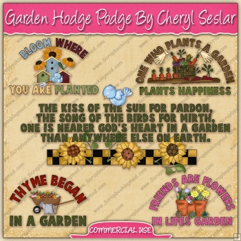 Garden Hodge Podge Graphic Collection - REF - CS