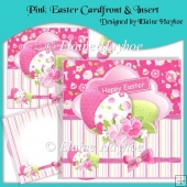 Pink Easter Cardfront & Insert