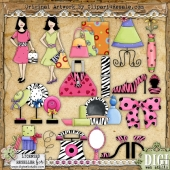 Trendy Girl 1 ClipArt Graphic Collection