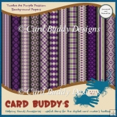 Twelve A4 Purple Passion Background Papers – CU/PU