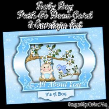 Baby Boy Push To Beau Card