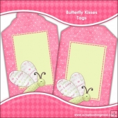 Butterfly Kisses Gift Tags - REF T710 & REF T711