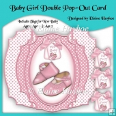 Baby Girl Shoe Double Pop Out Card