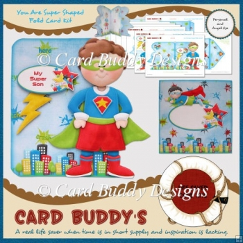 You Are Super Shaped Fold Card Kit