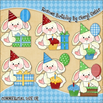 Roscoes Birthday ClipArt Graphic Collection
