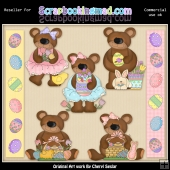 RESALE ART WORK - Easter Bears Collection