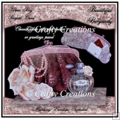 Glam Bag Card - Beautiful Burgandy