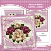Antique Roses Corner Stacker