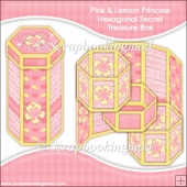 Pink & Lemon Princess Hexagonal Secret Treasure Box