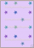 Backing Papers Single - Lilac Flowers - REF_BP_72