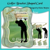 Golfer Bracket Shaped Card