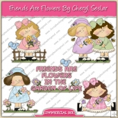Friends Are Flowers ClipArt Graphic Collection - REF - CS