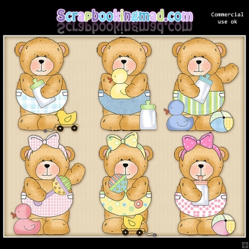 Chubby Cubby Sweet Baby ClipArt Graphic Collection