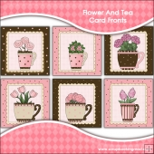 Flower And Tea Card Fronts