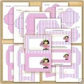Thinking Of You Girl PDF Envelope Download Set