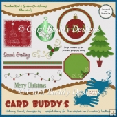 Twelve Red & Green Christmas Elements - CU/PU