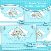 Tiny Tweets Christmas Envelope Card Front