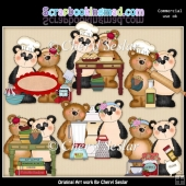 Fuzzy Fozzy Cooking Pals ClipArt Collection