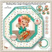 Skating Boy Large Octagonal Pyramid Card Kit