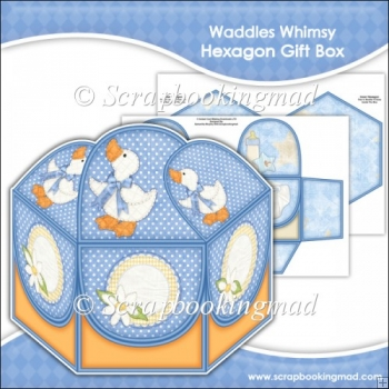 Waddles Whimsy Hexagon Gift Box