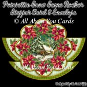 Poinsettia Snow Scene Rocker Stepper Card & Envelope