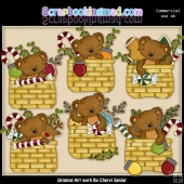 Tibbles Christmas Baskets ClipArt Collection