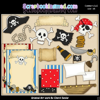 A Pirates Life For Me ClipArt Graphic Collection