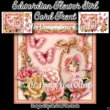 Edwardian Flower Girl Card Front
