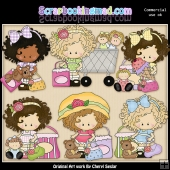 Little Lucy The Shopper ClipArt Graphic Collection