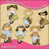My Littl Girl Off To Grandmas ClipArt Graphic Collection