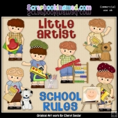Little Luke Loves School ClipArt Collection