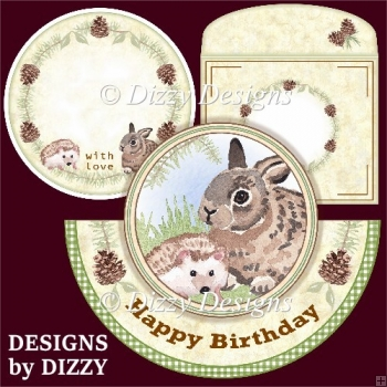Woodland Friends Rocker Card