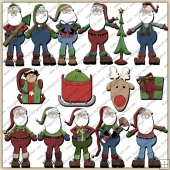 Santa ClipArt Graphic Collection