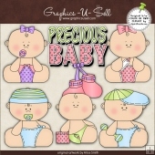 Precious Babies 1 ClipArt Graphic Collection